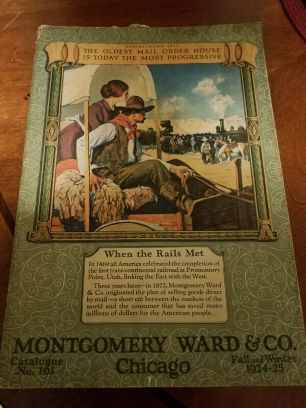 Antique Montgomery Ward & Co Catalog No.101 1924-25 Fall & Winter 725 Pages!