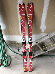 Red White and Black Atomic Race Snow Skiis