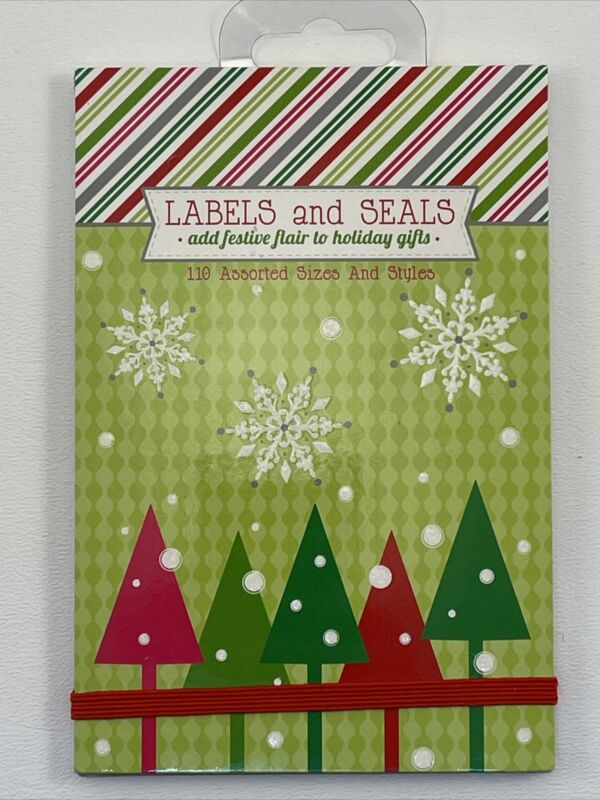 110 Gift Labels & Seals Sticker Book  Joy (36-040) The Gift Wrap Company  New