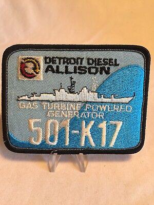 Detroit Diesel Allison Gas Turbine Powered Generator 501-K17 Navy Patch