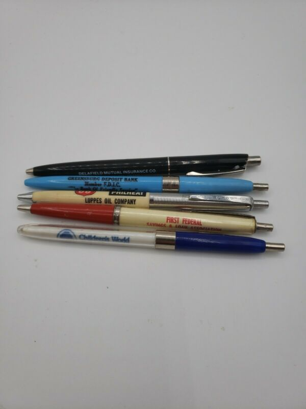 Lot Of 5 Advertising Pens Luppes Oil Company Children