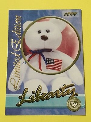 Ty Beanie Babies Trading Card Libearty, Tear A Bear, Series 3