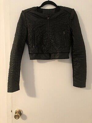 Bcbg Mazazria Faux Leather Jacket