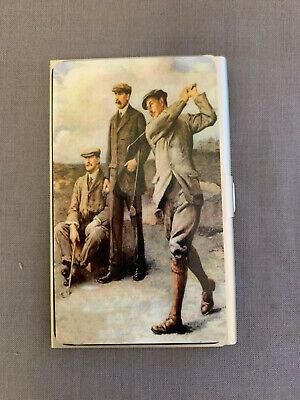 Business Card Holder Light Weight Anodized Aluminum Vintage Golf