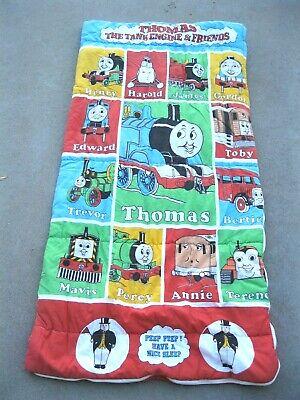 VTG Thomas the Tank & Friends 1992 Sleeping Bag Train Percy Edward Annie