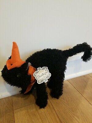 """Hallmark Hauntington Plush Black Cat Halloween 9"""" tall"""