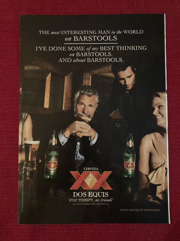 Dos Equis Beer Most Interesting Man 2008 Ad/Poster Promo Art Ad