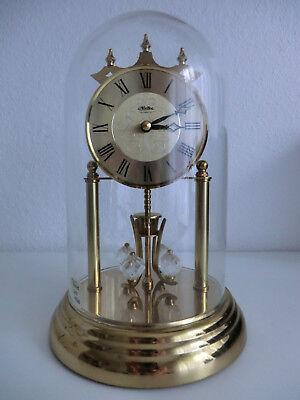Uhr Tischuhr Drehpendeluhr Jahresuhr von HALLER mit Glasglocke