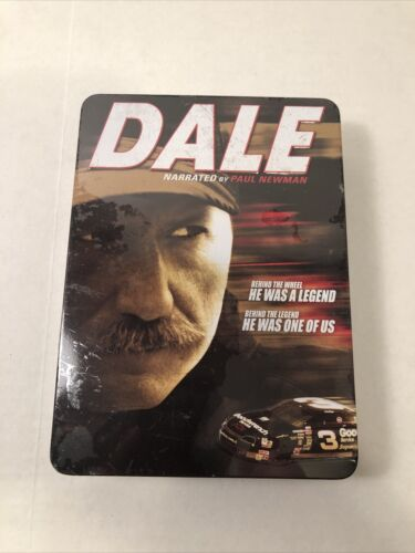 Dale Earnhardt Narrated By Paul Newman In 6 DVDs Metal Collectors Tin 2007 NEW - $9.99