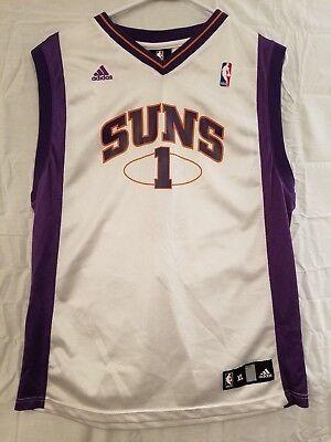 d2cbbb4465b Adidas NBA Phoenix Suns Basketball Jersey #1 Stoudemire White Purple Youth  Sz XL