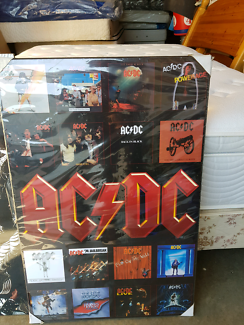 Acdc hard board poster old but new still in plastic