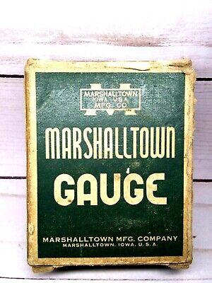 Marshalltown Vintage Pressure Gauge Brass Fitting 30 Psi Steel Case Glass Window