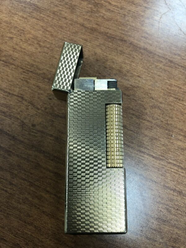 Dunhill Rollagas Lighter  Gold plated Working Clean