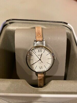 Fossil Annette Three-Hand Sand Leather Watch ES4361 Ladies