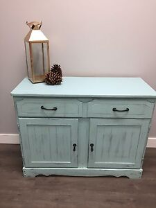 Beautifully distressed cabinet