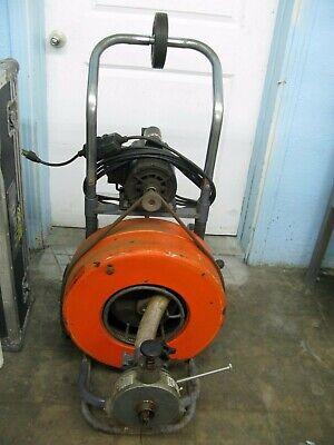 General Speedrooter 90 Power Drain Cleaner Rooter Snake On Wheels