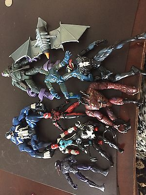 Marvel Spiderman action figures - mixed lot of Venom, Spiderman and Green Goblin