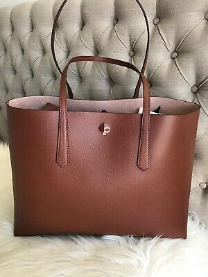 New Kate Spade molly large Cinammon Spice Brown Tote Laptop gift RARE Color