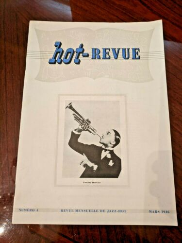 Vintage Mar 1946 Hot-Revue Jazz Magazine No. 4 Erskine Hawkins Cover in French