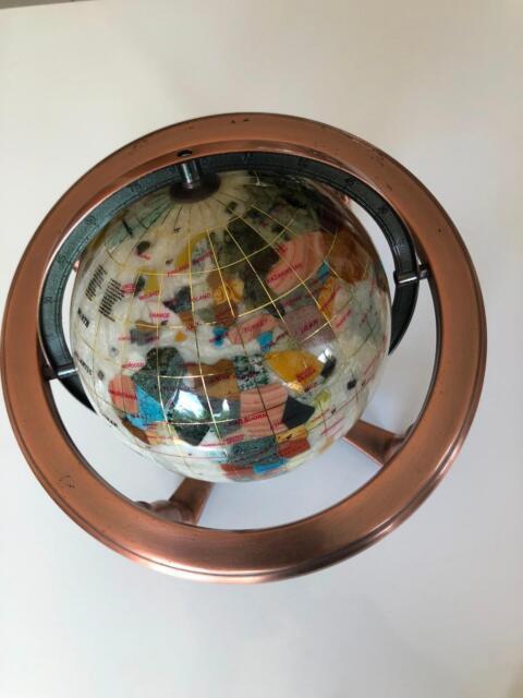 Gemstone World Map.Gemstone World Map Globe Collectables Gumtree Australia Gold