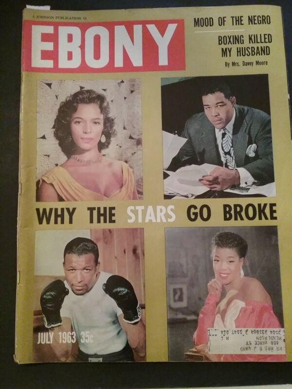 Vintage Ebony Magazine July 1963 - First Negro Astronaut Boxing Davey Moore