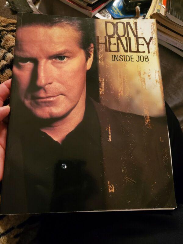 Don Henley Inside Job  sheet music songbook book pvg rare