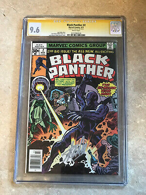 BLACK PANTHER #2 CGC 9.6 SS STAN LEE!!! WHITE PAGES!!