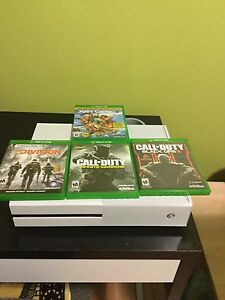 Xbox one and 4 games