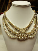 Faux Ivory Bead Necklace