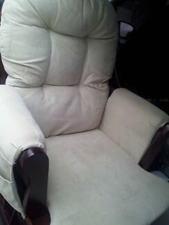 ARM CHAIR / ROCKER - SEUDE (CREAM) Macquarie Fields Campbelltown Area Preview