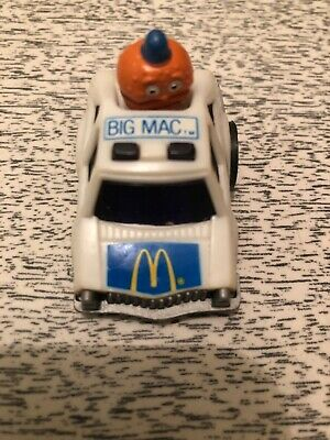 Vintage (1984) McDonalds BIG MAC Pull Back Race Car Wheelies By ERTL