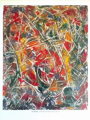 "JACKSON POLLOCK ABSTRACT EXPRESSIONIST LITHOGRAPH PRINT ""CROAKING MOVEMENT"" 1946"
