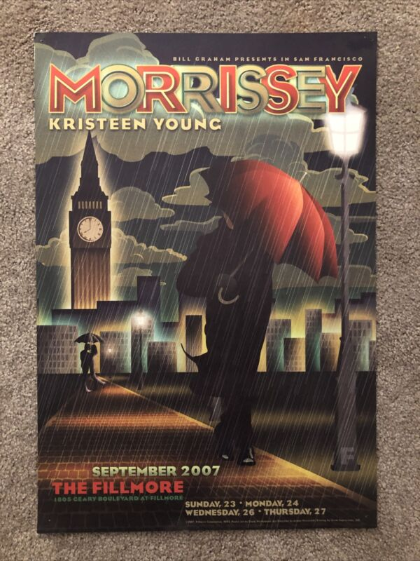 Morrissey Fillmore Poster September 2007 Kristeen Young 4 Nights San Francisco