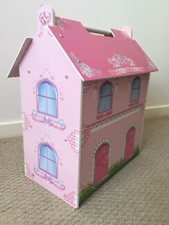 Wooden doll house..