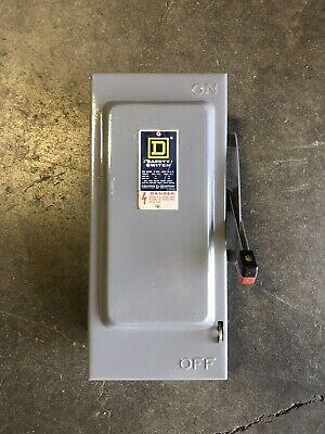 Square D H361 30a 600v 3ph Nema 1 Fused Safety Switch 1265