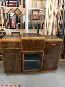 Retro Wooden Buffet Cabinet Old Beach Brighton Area Preview