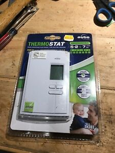 Programmable electric heat thermostat 240V