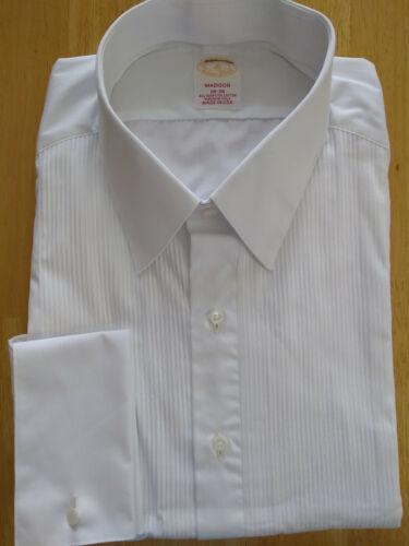 NWOT Brooks Brothers Golden Fleece White Formal Shirt 18-36 Madison MSRP $225