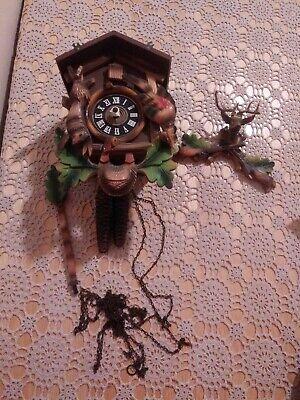 Vintage ESTATE FIND GERMANY CUCKOO CLOCK Deer/Buck - As/Is Parts Repair Only