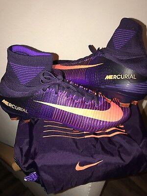 Nike Mercurial Superfly V FG 831940 585 Purple Dynasty/Bright Citrus Men's Sz 12