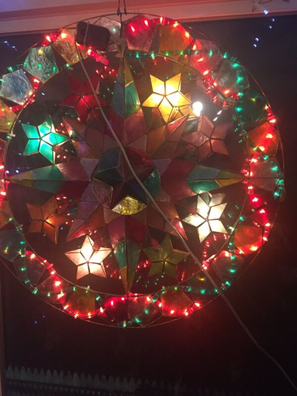 philippines christmas parol or lantern with Lighted Display