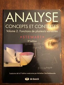 Analyse concepts et contextes volume 2