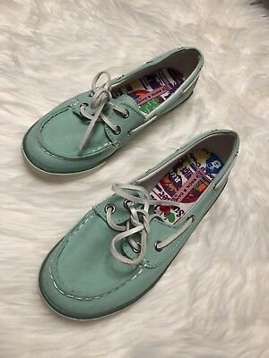 Rock and Candy Women's Sea foam  Boat Shoes Size 7.5 B482 Slip On Casual