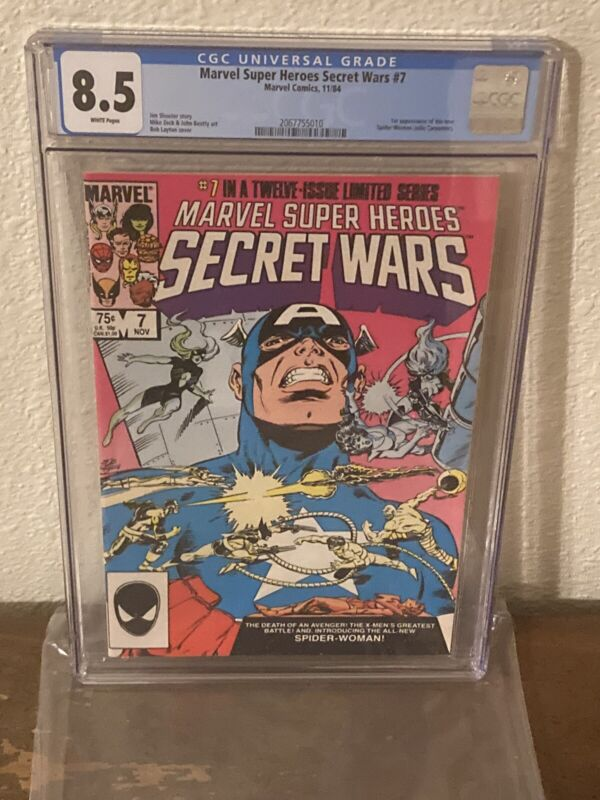 Marvel Super Heroes Secret Wars 7 CGC 8.5 First Appearance of New Spider Woman