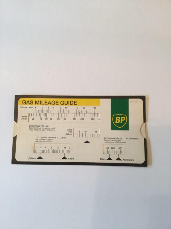 Vintage BP Gas Mileage Guide
