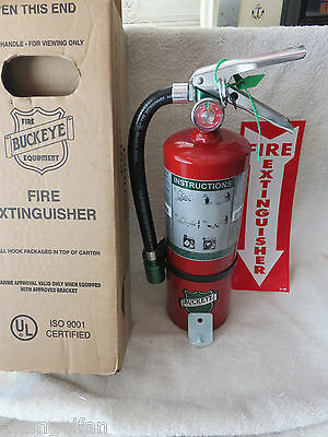 New Certified 2018 Buckeye 5lb. Halotron Fire Extinguisher With Hose