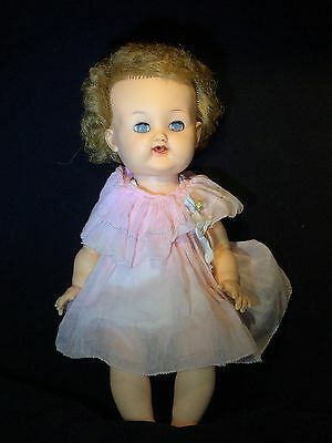 """Vintage 1950's Betsy Wetsy Doll 13"""" Caracul Curly Hair Great Condition"""