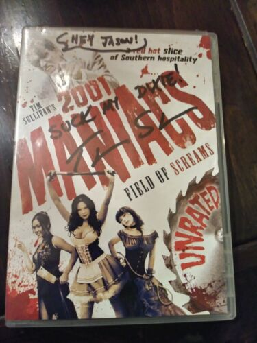 RARE! 2001 Maniacs: Field of Screams Autographed by Director Tim Sullivan, DVD