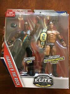 WWE ELITE ROCK & FAROOQ NATION OF DOMINATION 2-PACK MATTEL