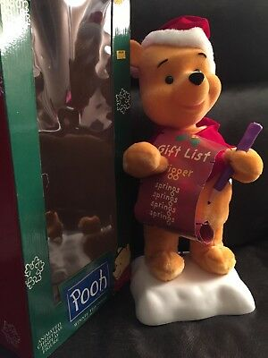 "Winnie the Pooh Animated Christmas Display Figure Telco 1996 Disney 16"" (Winnie The Pooh Animated Christmas Display Figure)"